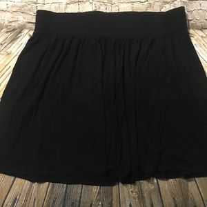 Lane Bryant Black Stretch Waist Skirt G17